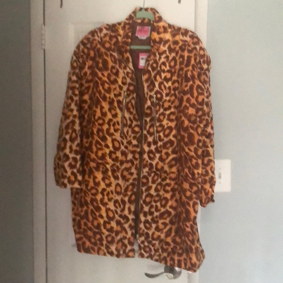 kate spade Leopard Cotton Trench Coat